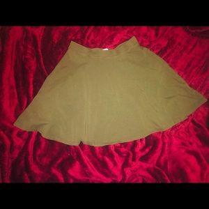 Forever 21 Olive Green Flared Mini Skirt